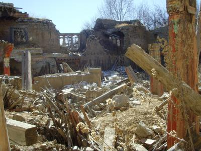 destroyed monastery